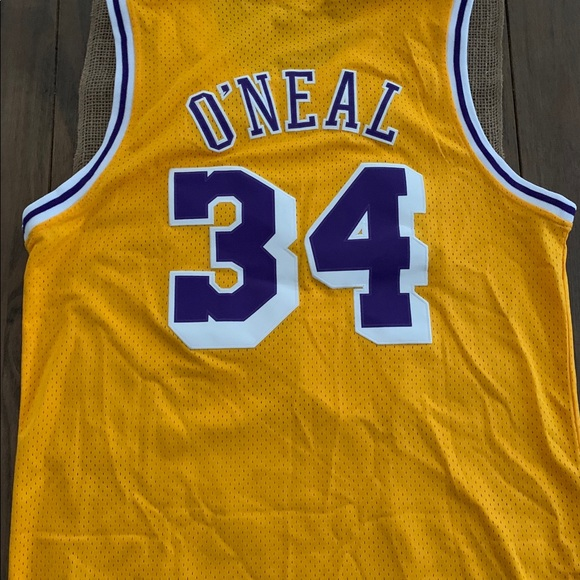 10d5f132 Mitchell & Ness Shirts | Mitchell Ness La Lakers Shaquille Oneal ...